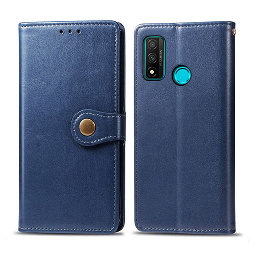 Leather Case Stands Flip Cover L08 Holder for Huawei P Smart (2020) Blue