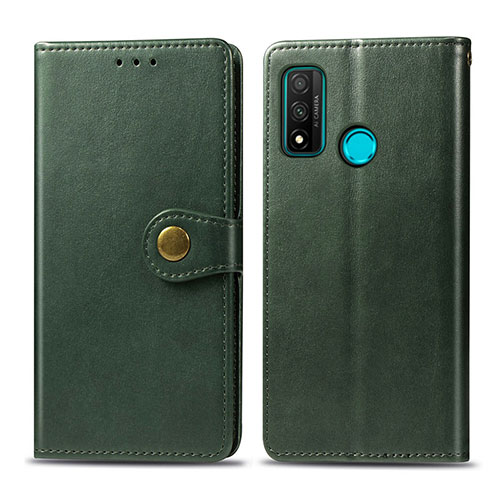 Leather Case Stands Flip Cover L08 Holder for Huawei P Smart (2020) Green