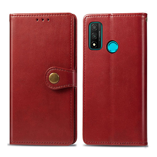 Leather Case Stands Flip Cover L08 Holder for Huawei P Smart (2020) Red