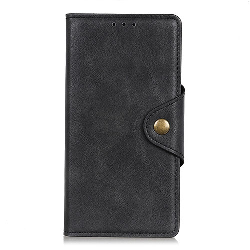 Leather Case Stands Flip Cover L08 Holder for Huawei Y8p Black