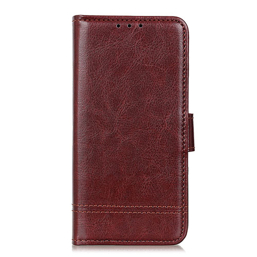 Leather Case Stands Flip Cover L09 Holder for Huawei Y8p Brown