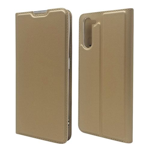 Leather Case Stands Flip Cover L09 Holder for Oppo Reno3 A Gold