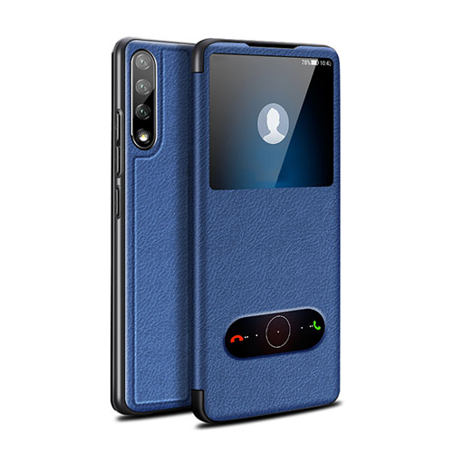 Leather Case Stands Flip Cover L12 Holder for Huawei Enjoy 10S Blue