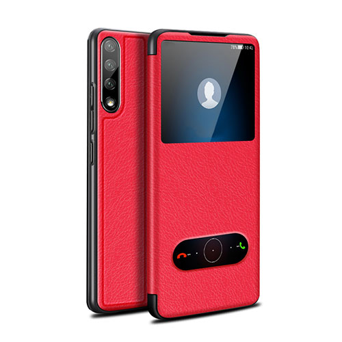 Leather Case Stands Flip Cover L12 Holder for Huawei Enjoy 10S Red