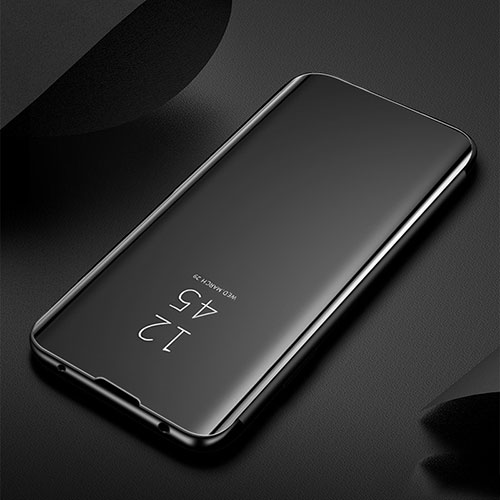 Leather Case Stands Flip Mirror Cover Holder for Xiaomi Redmi Note 8 Black