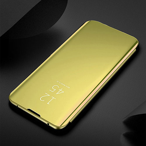 Leather Case Stands Flip Mirror Cover Holder for Xiaomi Redmi Note 8 Gold