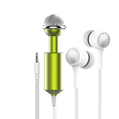 Luxury 3.5mm Mini Handheld Microphone Singing Recording M15 Black