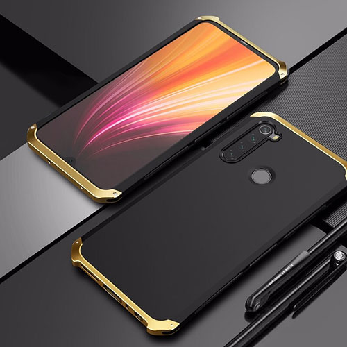 Luxury Aluminum Metal Cover Case for Xiaomi Redmi Note 8 Gold and Black