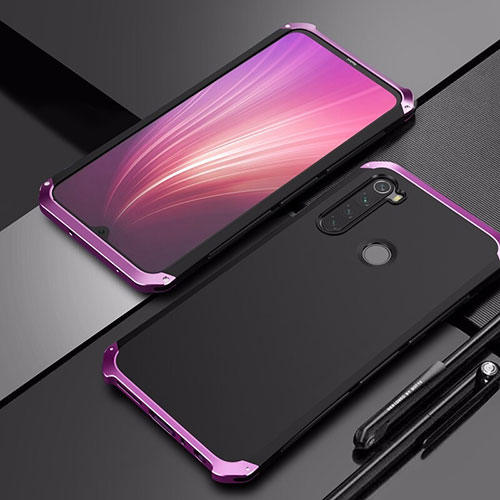 Luxury Aluminum Metal Cover Case for Xiaomi Redmi Note 8 Purple