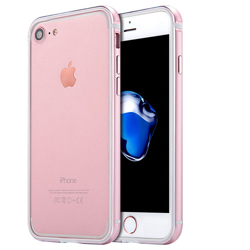 Luxury Aluminum Metal Frame Case for Apple iPhone SE (2020) Rose Gold