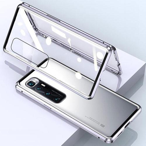 Luxury Aluminum Metal Frame Mirror Cover Case 360 Degrees M01 for Xiaomi Mi 10 Ultra Silver