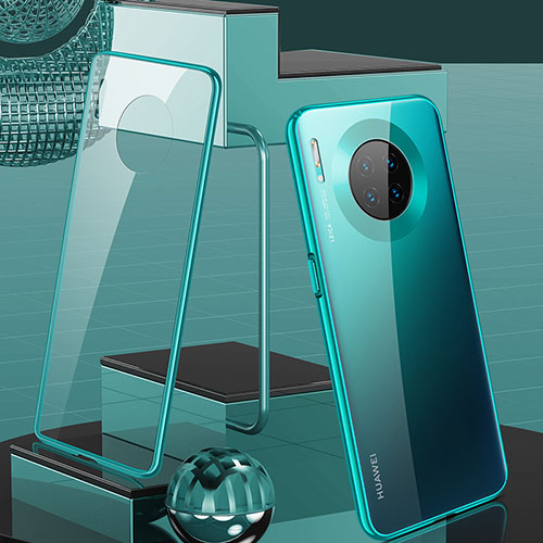 Luxury Aluminum Metal Frame Mirror Cover Case 360 Degrees M03 for Huawei Mate 30 Pro 5G Green