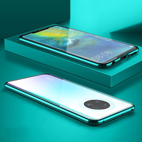 Luxury Aluminum Metal Frame Mirror Cover Case 360 Degrees M07 for Huawei Mate 30 Pro 5G Green