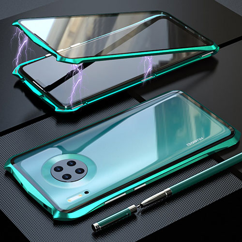 Luxury Aluminum Metal Frame Mirror Cover Case 360 Degrees M08 for Huawei Mate 30 Pro 5G Green
