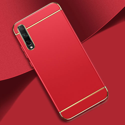 Luxury Metal Frame and Plastic Back Cover Case M01 for Huawei Enjoy 10S Red
