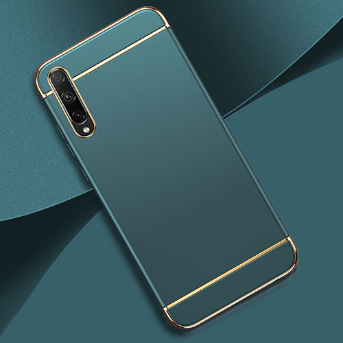 Luxury Metal Frame and Plastic Back Cover Case M01 for Huawei Enjoy 10S Sky Blue