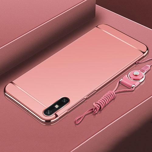 Luxury Metal Frame and Plastic Back Cover Case M03 for Huawei Enjoy 10e Rose Gold