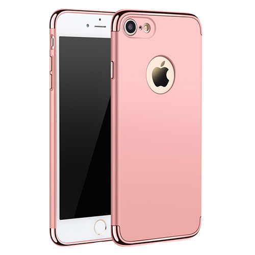 Luxury Metal Frame and Plastic Back Cover M01 for Apple iPhone SE (2020) Rose Gold