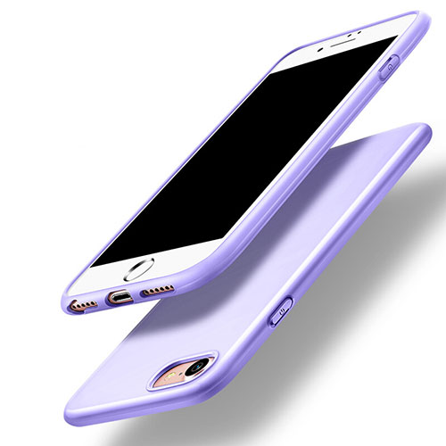 Silicone Candy Rubber Gel Soft Cover for Apple iPhone SE (2020) Purple