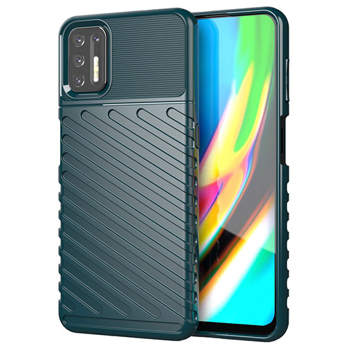 Silicone Candy Rubber TPU Line Soft Case Cover for Motorola Moto G9 Plus Green