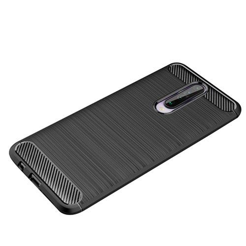 Silicone Candy Rubber TPU Line Soft Case Cover for Xiaomi Redmi K30 5G Black
