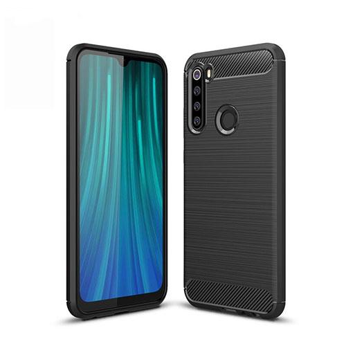 Silicone Candy Rubber TPU Line Soft Case Cover for Xiaomi Redmi Note 8 Black