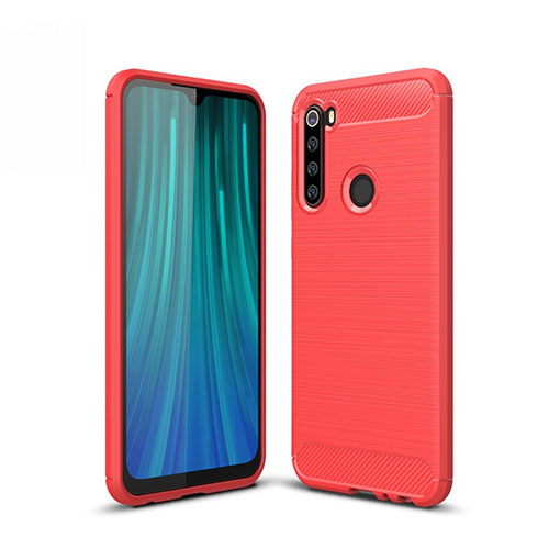 Silicone Candy Rubber TPU Line Soft Case Cover for Xiaomi Redmi Note 8 Red