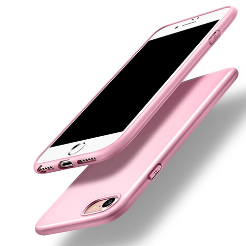 Silicone Candy Rubber TPU Soft Case for Apple iPhone SE (2020) Pink
