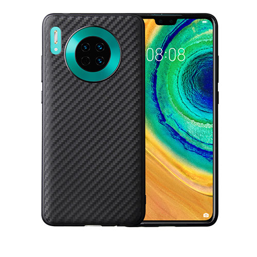 Silicone Candy Rubber TPU Twill Soft Case Cover for Huawei Mate 30 Pro 5G Black