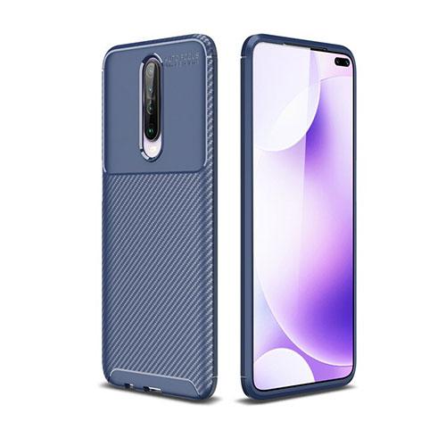 Silicone Candy Rubber TPU Twill Soft Case Cover for Xiaomi Redmi K30 5G Blue