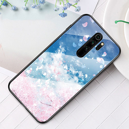 Silicone Frame Fashionable Pattern Mirror Case Cover for Xiaomi Redmi Note 8 Pro Mixed