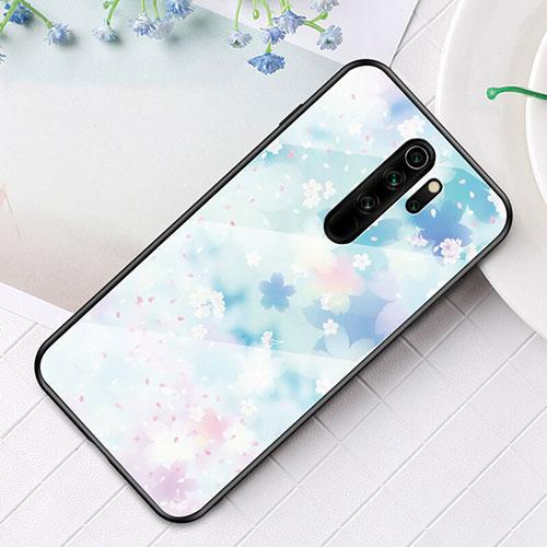 Silicone Frame Fashionable Pattern Mirror Case Cover for Xiaomi Redmi Note 8 Pro White
