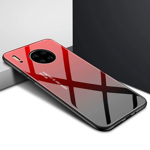Silicone Frame Mirror Case Cover for Huawei Mate 30 Pro 5G Red