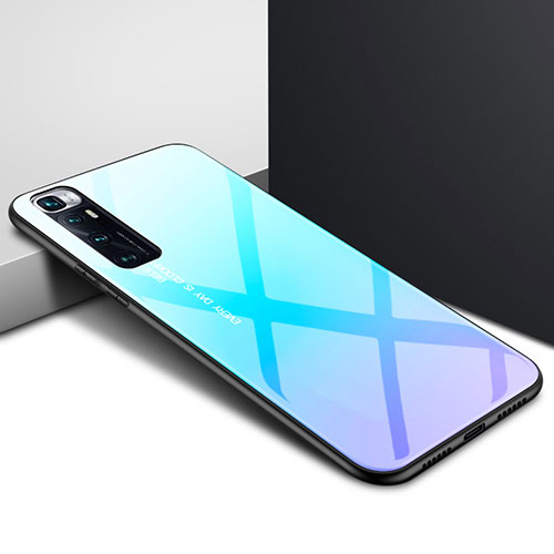 Silicone Frame Mirror Case Cover for Xiaomi Mi 10 Ultra Sky Blue