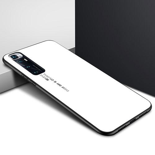 Silicone Frame Mirror Case Cover for Xiaomi Mi 10 Ultra White