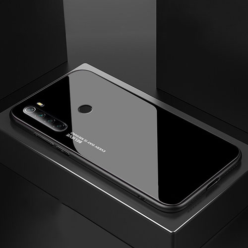 Silicone Frame Mirror Case Cover for Xiaomi Redmi Note 8 Black