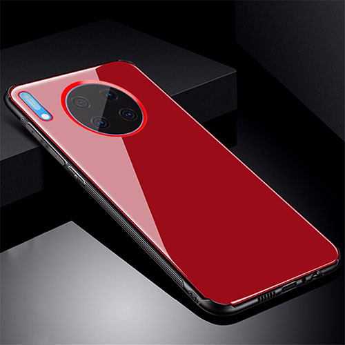 Silicone Frame Mirror Case Cover M01 for Huawei Mate 30 Pro 5G Red