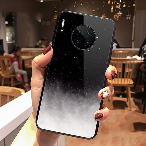 Silicone Frame Starry Sky Mirror Case Cover for Huawei Mate 30 Pro 5G Black