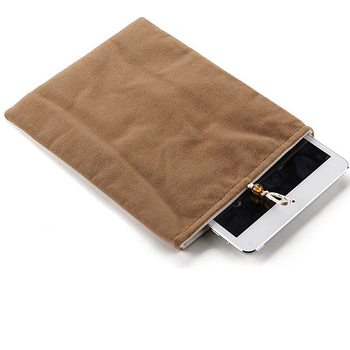 Sleeve Velvet Bag Case Pocket for Apple iPad 2 Brown