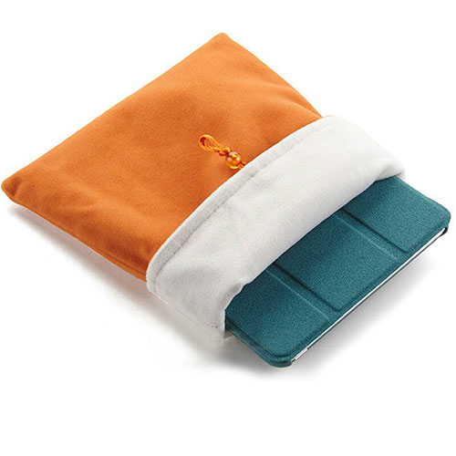 Sleeve Velvet Bag Case Pocket for Apple iPad 3 Orange