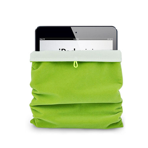 Sleeve Velvet Bag Case Pocket for Apple iPad 4 Green