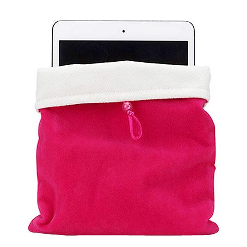 Sleeve Velvet Bag Case Pocket for Apple iPad Mini 3 Hot Pink