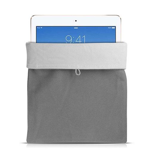 Sleeve Velvet Bag Case Pocket for Apple iPad Pro 12.9 (2017) Gray