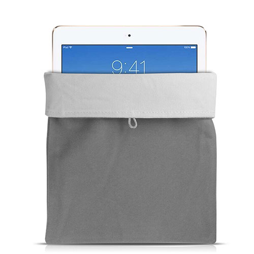 Sleeve Velvet Bag Case Pocket for Apple iPad Pro 12.9 Gray