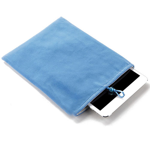 Sleeve Velvet Bag Case Pocket for Samsung Galaxy Tab S2 9.7 SM-T810 SM-T815 Sky Blue