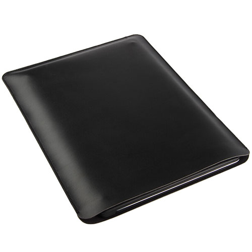 Sleeve Velvet Bag Leather Case Pocket for Apple iPad 3 Black