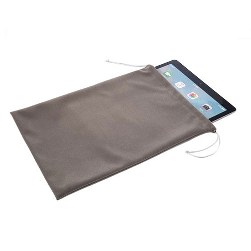 Sleeve Velvet Bag Slip Pouch for Apple iPad 2 Gray