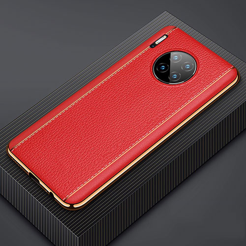 Soft Luxury Leather Snap On Case Cover R07 for Huawei Mate 30 Pro Red