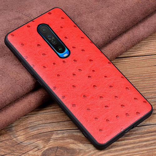Soft Luxury Leather Snap On Case Cover S03 for Xiaomi Redmi K30 5G Red