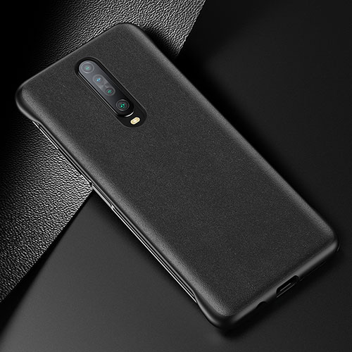 Soft Luxury Leather Snap On Case Cover S06 for Xiaomi Redmi K30 5G Black